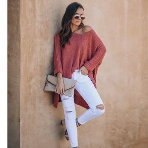 KIARA Knit Loose Fit Long Sleeve Sweater
